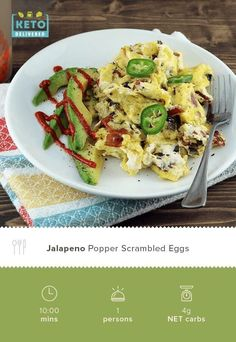 Jalapeno Popper Scrambled Eggs Need another way to get the amazing flavor combination of Jalepeno Poppers in your life? Try this Jalapoeno Popper egg recipe! Shared via www. Egg Recipes, Brunch Recipes, Low Carb Recipes, Breakfast Recipes, Recipies, Jalapeno Poppers, Stuffed Jalapeno Peppers, Eggs Low Carb, Eggs In Peppers