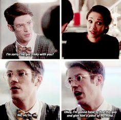 """So that's why you weren't wearing your wedding ring yesterday? And that kiss was so…?"" #TheFlash #Westllen #2x14"