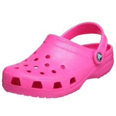 I bought these crocs for my two year old niece - she absolutely loves them! She is able to put them on herself and loves the shoe snap on decorations I also bought for the crocs. We spend alot of time at the lake; these shoes are perfect for going in and out of the water. They are easily cleaned with soapy water, too. $9.99 http://amzn.to/yikf6r