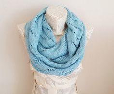 Christmas Gift Idea Aqua Blue infinity Scarf Women by HeraScarf