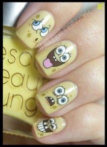 uñas decoradas de spongebob (6)