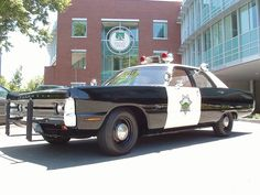 Vintage Plymouth Police Car.
