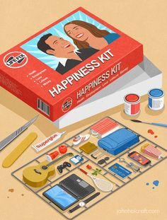 Happiness Kit 30 Awesome Satirical Illustrations That Capture The Flaws Of Our Society • BoredBug