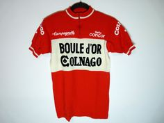 Rare vintage Colnago Boule d or Campagnolo wool cycling jersey maillot cycliste