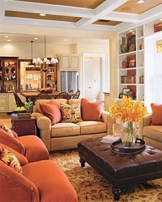 ... Warm Color Paint Living Room 96   Small Room Decorating Ideas. Family  Room With Hardwood Flooring And Netural Sectional Sofa