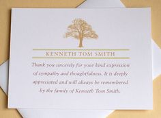 Funeral Sympathy Thank You Cards With Three Big Peach Tulips