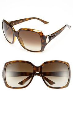 Gucci Tortoise Shell Sunglasses - Love me these simply because I love the word - Tor-tiss :) Ray Ban Sunglasses Outlet, Ray Ban Outlet, Sunglasses Shop, Gucci Sunglasses, Sunglasses Women, Sunnies, Gucci Eyewear, Handbag Accessories, Sunglasses Accessories