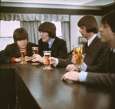 Having a beer with The Beatles.