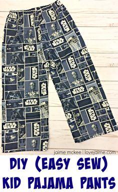 45f558fd47 DIY Easy Sew Star Wars Children s Pajama Pants