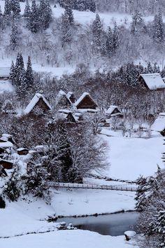 里山 Satoyama scenery - 冬 Winter in Japan I Love Snow, I Love Winter, Hello Winter, Winter White, Winter Magic, Winter's Tale, Photos Voyages, Winter Scenery, Snowy Day