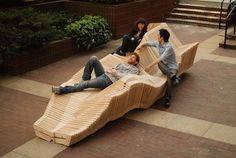 Polymorphic Kinetic Bench. Designed by ten architecture students from Columbia University.