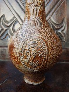 Mid 17thC Antique Stoneware Bellarmine Jug, Circa 1625-1675
