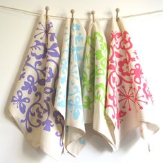 Set of 2 Tea Towels in Butterfly, choice of colours. £16.00, via Etsy.