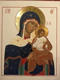 Byzantine Icons, Hail Mary, Blessed Virgin Mary, Gods Creation, Orthodox Icons, Religious Art, Our Lady, Madonna, Prayers