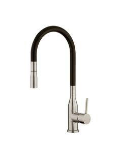 Purity Minimal Black Spout Pulldown Sink Mixer - Foreno Tapware
