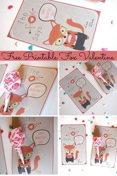 The Cutest Free Printable Fox Valentine Cards | GoGrowGo.com