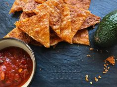 Just in time for the Super Bowl - 100% cheddar chips for us keto and low-carb folks. They're crispy for dipping in guacamole and salsa, and could even be topped with taco meat and MORE cheese! SO GOOD!