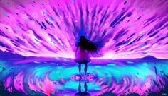 Pink reflection by ryky on DeviantArt More Wallpaper, Original Wallpaper, Wallpaper Backgrounds, New Dragon, Inspirational Artwork, Deviantart, Color Theory, Christmas Art, Background Images