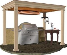 Kitchens, Modular Outdoor Kitchens Brown Color Picture Well Style Example Modern Example That Looks Simple The Picture Example Of Best Prefab Outdoor Kitchen Kits ~ Choose The Best Example Of Prefab Outdoor Kitchen Kits That You Can Use As Your Style Of Well Kitchen At Home