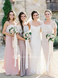 Scoop Sheath Lace Bridesmaids Dresses 2015 Floor Length Open Back Party Gowns,Bridesmaid Prom Dress Lace Prom Dress