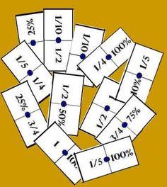 Este dominó es similar al presentado en una entrada de este blog publicada el 5 de Marzo del 2011, pero en éste, en lugar de hacer aparecer tres formas equivalentes para representar una fracción, l...