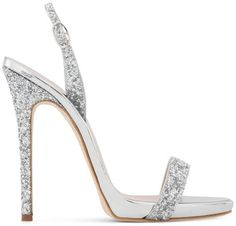 Shop Giuseppe Zanotti Sofia glitter sandals now with fast AU shipping and free returns w/pick-up Giuseppe Zanotti Design, Giuseppe Zanotti Heels, Stilettos, Stiletto Heels, High Heels, Sexy Heels, Metallic Pumps, Metallic Leather, Prom Shoes