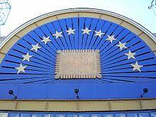 le petit beurre LU à nantes (façade réalisée par christophe drouet) symbole de la marque LU