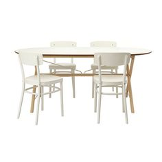 IKEA - SLÄHULT/DALSHULT / IDOLF, Table and 4 chairs, Solid wood is a hardwearing natural material that can take the wear and tear of everyday use.