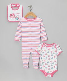 Pink 'Mommy's Girl' Footie Set from Carter's