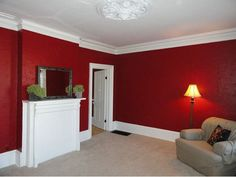AWESOME red room in a house we are looking at. Brilliantly bold and beautiful! Red Rooms, House Rooms, Awesome, Beautiful, Home Decor, Red Bedrooms, Homemade Home Decor, Interior Design, Home Interiors