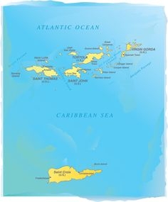 Virgin Islands - map of both u.k. and usa