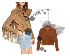 """Suede Cropped Jackets"" by hector-gomez-guizar on Polyvore featuring moda y ASOS"