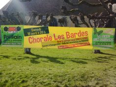 Exemple de banderole pour la Chorale Les Bardes du 18 Avril prochain !