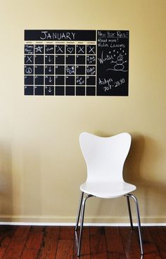 CHALK BOARD Calendar 22 x 35 by madhattergraphics on Etsy, $35.00
