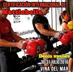 Certificación Internacional de Kettlebells Nivel 1 & 2 Ketacademy &Pesa Rusa  * Fecha: 30 - 31 de Julio * Lugar:  Viña del Mar  link Facebook: https://www.facebook.com/events/194354634269082/  Certificación Internacional de Kettlebells Nivel 1 y 2 PESA RUSA & KETACADEMY  Aplicación de Pesas Rusas para Crossfit, deportes de contacto, artes marciales, entrenamiento funcional. El mejor complemento a tus entrenamientos.   Mas info en Email: pesasrusachile@gmail.com