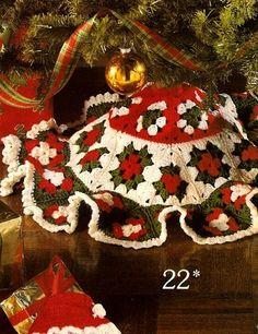 W465 Crochet PATTERN ONLY Granny Square Mini Christmas Tree Skirt Patt Christmas Tree Skirts Patterns, Christmas Skirt, Christmas Gifts To Make, Crochet Christmas Trees, Christmas Crochet Patterns, Holiday Crochet, Mini Christmas Tree, Afghan Crochet Patterns, Crochet Home