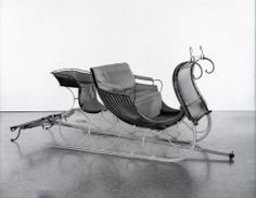 A one horse Sleigh c. 1890 displayed at the New York HIstorical Society.  Source: 'The Invention of Santa Claus'Exhibit - CBS New York