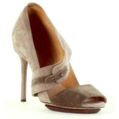 L.A.M.B Tan Suede Peep-Toe Stilettos L.A.M.B Tan Suede Peep-Toe Stilettos. These fabulous stilettos are in excellent condition. Comes with signature L.A.M.B dust bag. L.A.M.B. Shoes Heels