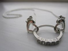 Close To Your Heart // Ring Holder Necklace // Wedding Ring Holder //  Special Ring // Silver Heart Clasp