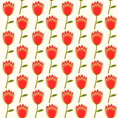 Free digital floral scrapbooking paper: cream red - ausdruckbares Geschenkpapier - freebie | MeinLilaPark – DIY printables and downloads