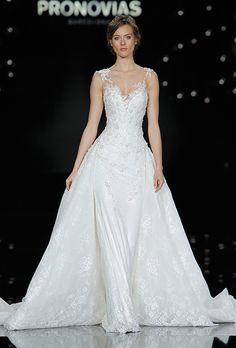 Brides.com: . Wedding dress by Pronovias