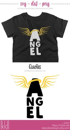 Mommy's Little Angel svg file complete with wings and halo - Free for Personal Use by Kelly Lollar Designs