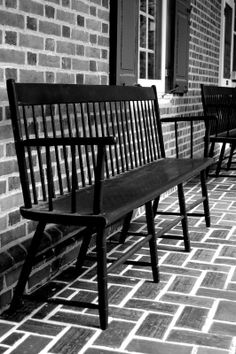 Black Bench by QuailLanePhotography on Etsy, $18.00