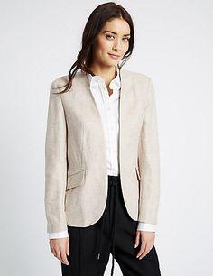 Linen Rich Jacket | M&S