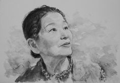 Acoustic Drawings The Shinji Ogata Gallery: A Portrait of My Mother (Black & White) 母の肖像画 (モノク...