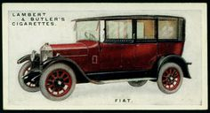 Cigarette Card - Fiat, 1926