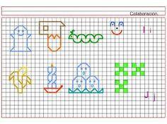 Resultado de imagen para como hacer caligrafia en cuadricula dibujos