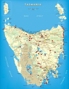 Tasmania Free Camping Map