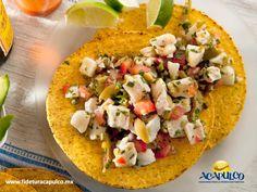 #gastronomiademexico Deléitate con las sabrosas tostadas de ceviche en El Anzuelo de Acapulco. GASTRONOMÍA DE MÉXICO. El Anzuelo es uno de los mejores restaurantes de comida del mar en Acapulco y uno de sus principales platillos que sirven son las riquísimas tostadas de ceviche, las cuales te encantarán, ya que las preparan con una salsa deliciosa. Obtén más información en la página oficial de Fidetur Acapulco.