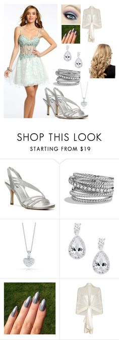 """Homecoming Dance: Julianna"" by kiara-fleming ❤ liked on Polyvore featuring Unlisted by Kenneth Cole, David Yurman, Roberto Coin, Simply Silver and Ghost"